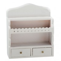 Dollhouse Kitchen White Upper Shelf Unit - Product Image
