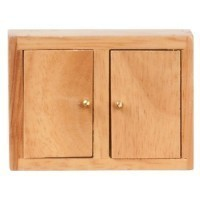 Dollhouse Upper Cabinet, Oak or White - Product Image
