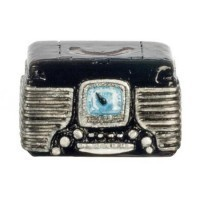 (*) Dollhouse 1950's Retro Radio - Product Image