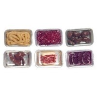 Filled Dollhouse Butcher Trays 2 - Product Image