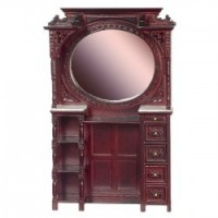 Dollhouse Victorian Barber Cabinet- Choice of Finish - - Product Image