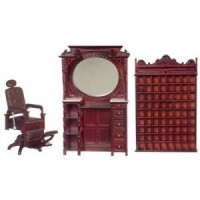 3 Pc. Dollhouse Victorian Barber Set - Product Image