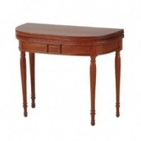 Dollhouse Walnut Jefferson Card Table - Product Image
