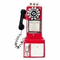 (*) Dollhouse 1950's Pay Phone - Product Image