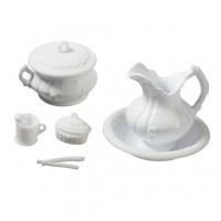 Dollhouse Victorian Chamber Set - White - Product Image