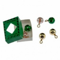 Dollhouse Green & White Christmas Ornament Box - Product Image