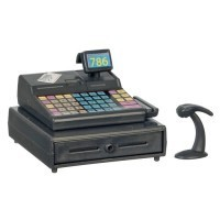 (*) Modern Cash Register with Scanner - Product Image