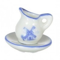 § Sale .60¢ Off - Delft Wash Ceramic Bowl & Pitcher - Product Image