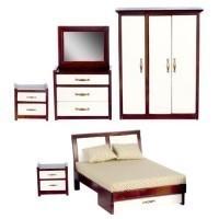 Dollhouse Mahogany Modern Bedroom - Product Image