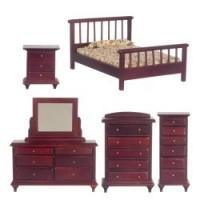 Dollhouse Mahogany Bedroom - Product Image