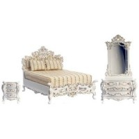 Dollhouse White Bourbon Bedroom by Bespaq - Product Image