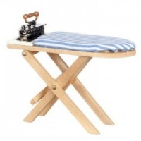Dollhouse Wooden Ironing Board & Iron - Product Image