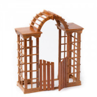(*) Dollhouse Arbor with Gate - Product Image