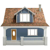 (* In-Stock *) Beachside Bungalow Dollhouse (Kit) - Product Image