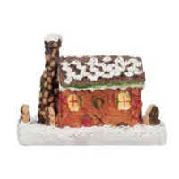 Dollhouse Gingerbread Log Cabin - Product Image