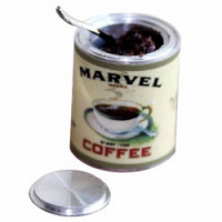 Dollhouse Vintage Filled Open Coffee Can- Choice Of Style - - Product Image
