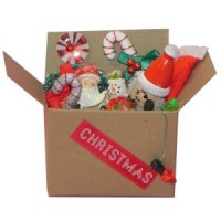 Dollhouse Filled Christmas Box - Product Image