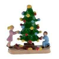 Dollhouse Christmas Tree W/Children - Product Image