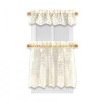 Dollhouse Beige Ecru Lace Cafe Curtain - Product Image
