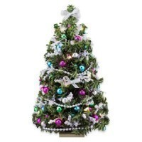 (*) Closeout - Lite Silver/Jewels Christmas Tree - Product Image