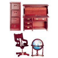 Dollhouse Roll-Top  Office - Product Image
