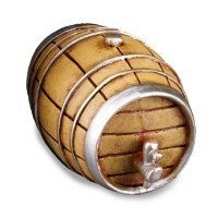 Dollhouse Wine Barrel w/Tap - Large - Product Image
