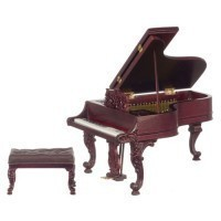 Dollhouse Victorian Grand Piano by Bespaq - Product Image