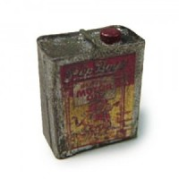 Dollhouse Vintage Tin Pioneer Oil Can - Product Image
