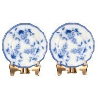 2 pc Dollhouse Plate & Display Set - Product Image