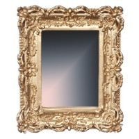 Dollhouse Mirror Gold Frame - Product Image