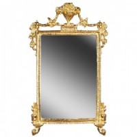Dollhouse Mirror Ornated Gold Frame - Product Image