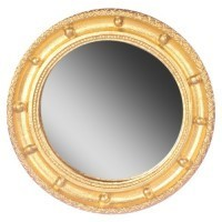 Dollhouse Gold Round Mirror - Product Image