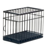 Large Black Dollhouse Pet Cage - Product Image