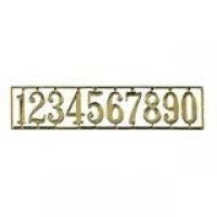 Dollhouse Brass House Numbers - Product Image