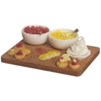 Dollhouse Lemon Tarts On Wooded Board - Product Image