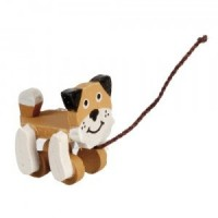(**) Dollhouse Pull Toy Dog - Product Image