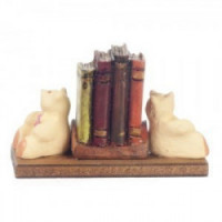 Bear Bookends with Books - Product Image