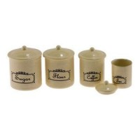 Dollhouse Vintage Kitchen Canisters- Choice of Color - - Product Image