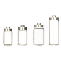 (**) Dollhouse Glass Canisters with Metal Lids - Product Image