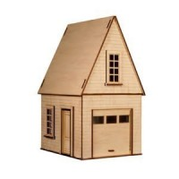Dollhouse Garage with Loft (Kit) - Product Image
