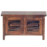 Dollhouse Television Stand with Doors - Product Image