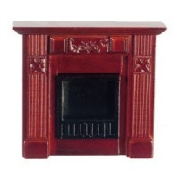 Dollhouse Mahogany Elizabeth Fireplace - Product Image