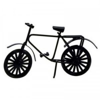 Dollhouse Miniature Bicycle - Black - Product Image