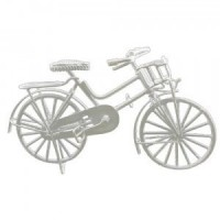 Dollhouse Miniature Bicycle - White - Product Image