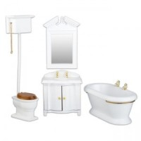 Dollhouse Old Fashioned Bathroom - Product Image