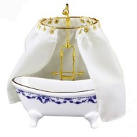 Reuters Dollhouse Bathtub & Shower - Product Image