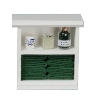 Dollhouse Small Bath Cabinet with Accessories - Product Image