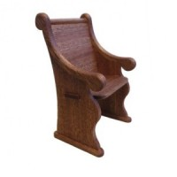Dollhouse Church Pew Chair - Product Image