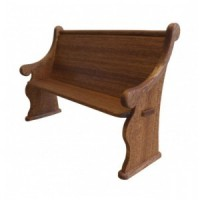 Dollhouse Church Pew (Short) - Product Image