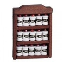 Dollhouse Spice Rack with Spices - Product Image